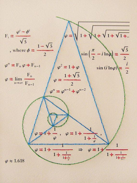 Golden Ratio. Geometry Journal. Fibonacci. by FabulousCatPapers