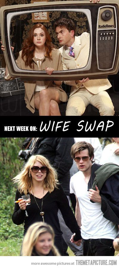 Next week on wife swap… THIS WOULD BE THE BEST EPISODE EVER! (Side note, I don't ship any of them together.)