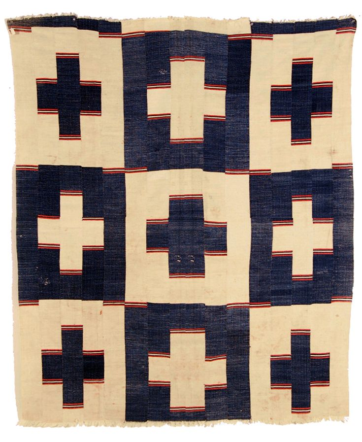 Africa   Display cloth ~ kpokpo ~ from the Mende people of Sierra Leone   Cotton; strip woven on tripod loom   Early 20th century