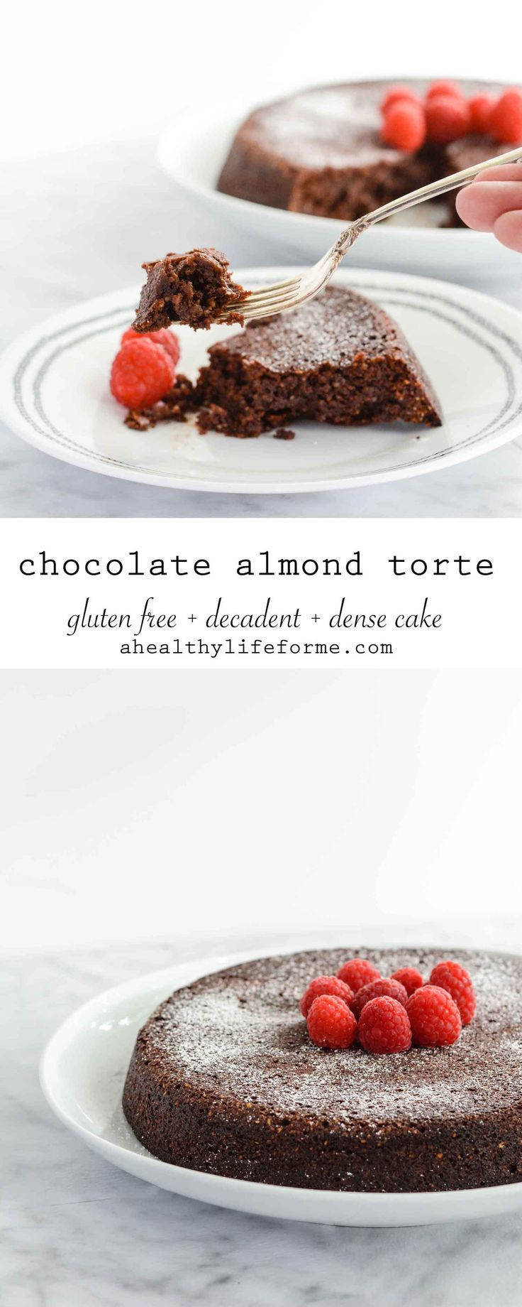 Chocolate Almond Torte {gluten free} a dense, decadent chocolate cake recipe that is also gluten free.- A Healthy Life For Me