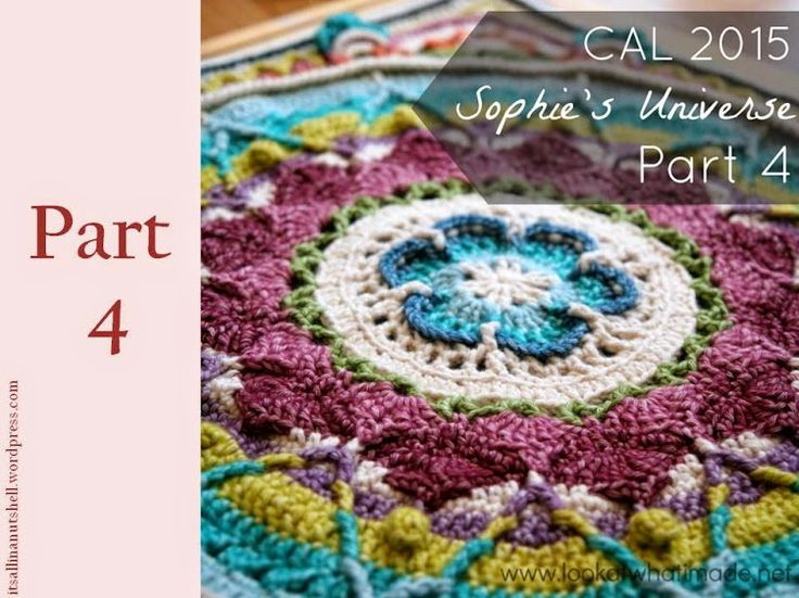 Here you can find all the video's for Sophie's Universe Crochet Along 2015. This beautiful blanket is designed by Dedri Uys from Look at what I made. If you want to look back on all the previous po...