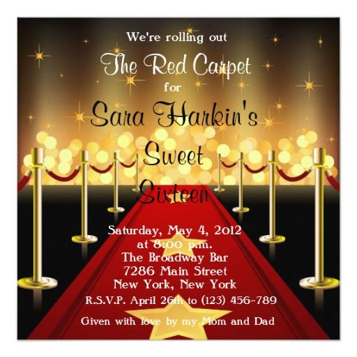 Extrêmement 418 best Red Gold Birthday Party Invitations images on Pinterest  QK46