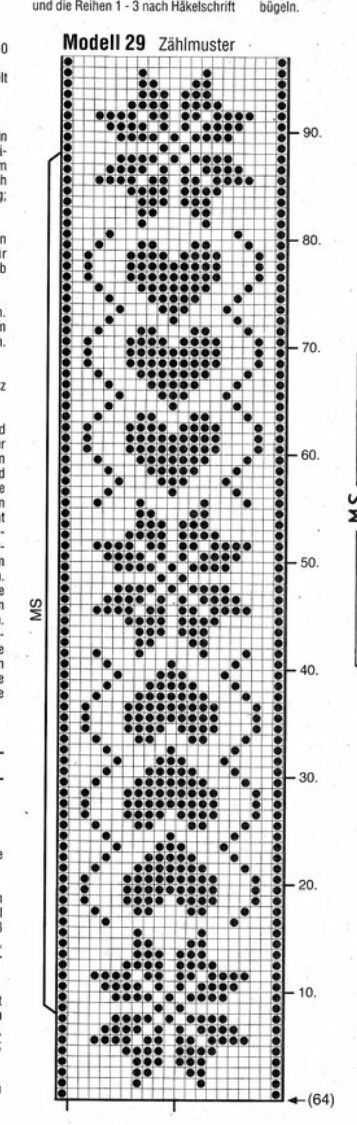 Instagram. PICTURE ONLY. Filet crochet diagram