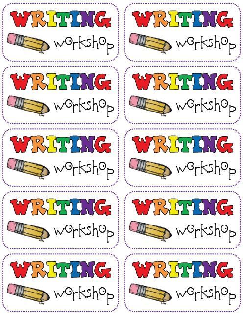 Writing Workshop folder labels FREEBIE