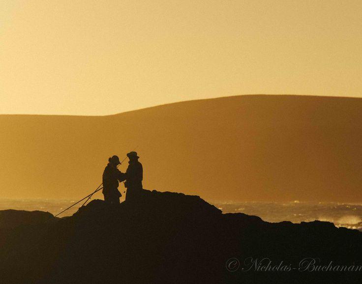 Fishing Couple at Sunset