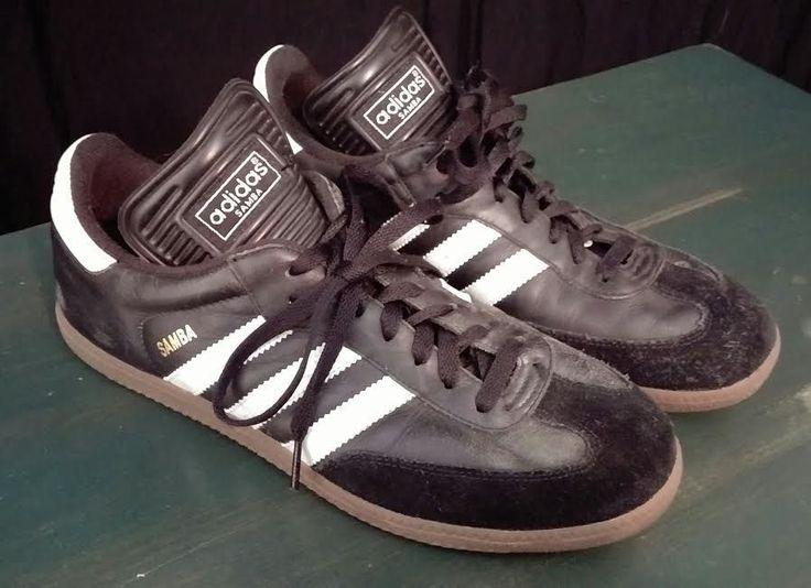 Adidas Samba original vintage 1990s mens shoes black white 9.5 #adidas  #AthleticSneakers