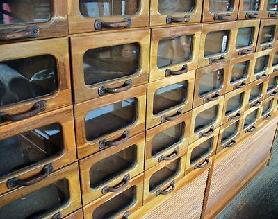 LARGE Vintage Old Industrial Haberdashery Pigeon Holes 64 Drawers Shoe  Cabinet - 88 Best Drawers Images On Pinterest Primitive Furniture, Antique
