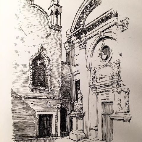 Image result for Chiesa della Misericordia drawing