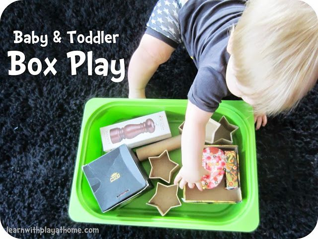 Learn with Play at home: Do you teach Babies or Toddlers. Such great fun and learning to be had with simple Box Play