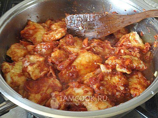 Готовая индейка в кисло-сладком соусе