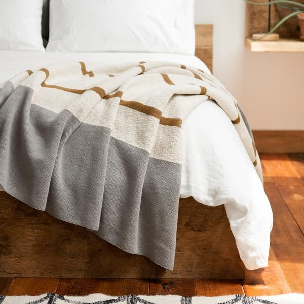 Best Bronze Grey Striped Throw In 2020 Grey Bedding Grey 400 x 300