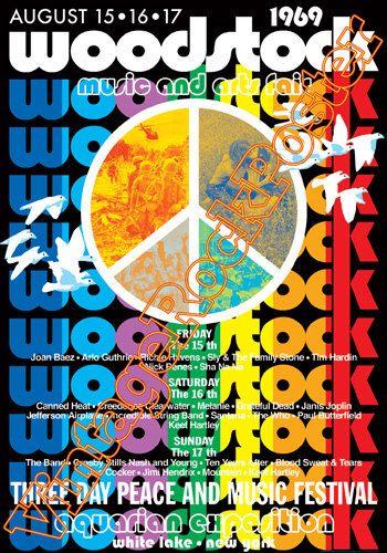 173 - WOODSTOCK -Pop festival - White Lake, New York, Us - 15 august 1969 - artistic concert poster by Mokusaiya on Etsy https://www.etsy.com/listing/222464106/173-woodstock-pop-festival-white-lake