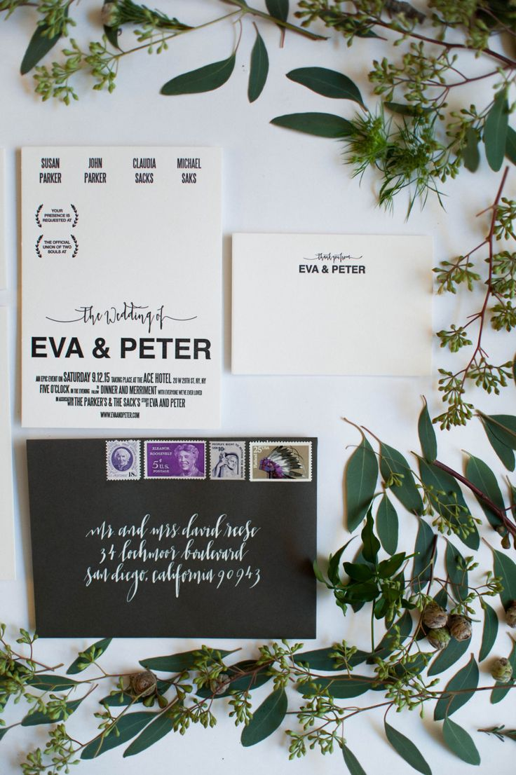 Are you looking for modern simple wedding invitations? This save the date has a clean design that looks like a movie poster. It's unique design can't be found anywhere else. Elegant calligraphy is letterpressed, giving it a luxurious texture. Click through to view more contemporary designs that are affordable and chic