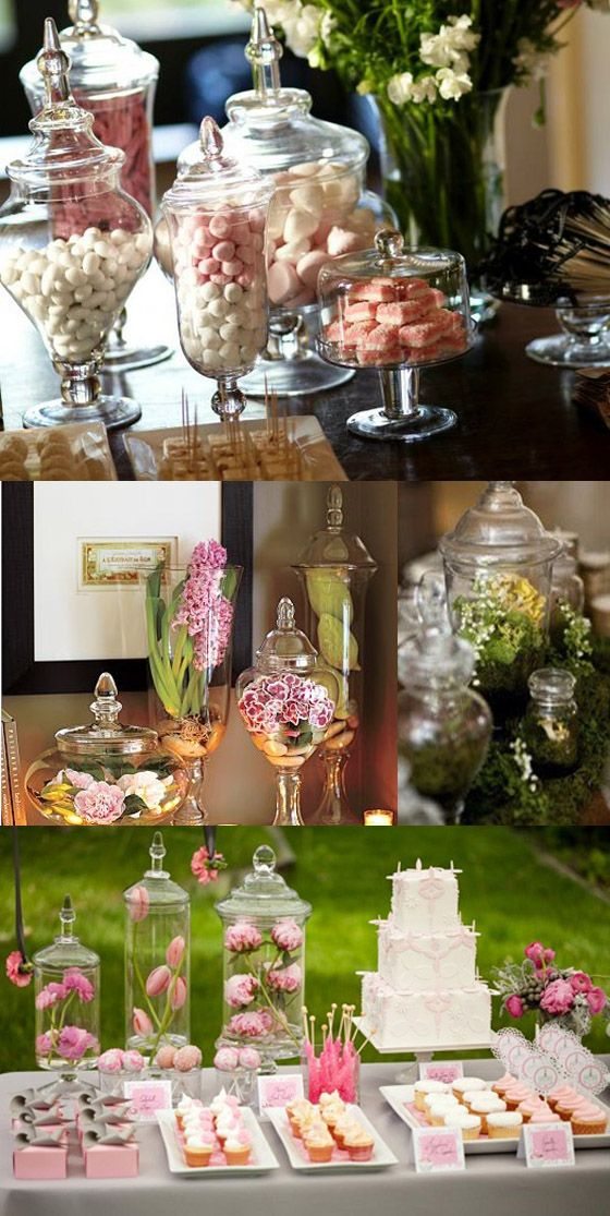 apothecary jars wedding inspiration
