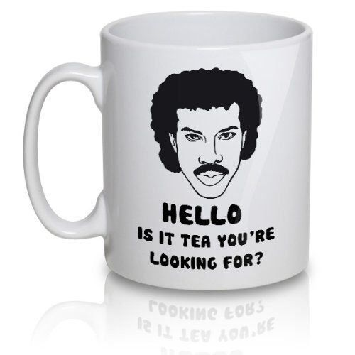 Lionel Richtea Mug - Hello is it tea you're looking for? 11oz funny mug. Free shipping to UK by Busybeesprint on Etsy https://www.etsy.com/listing/207097310/lionel-richtea-mug-hello-is-it-tea-youre