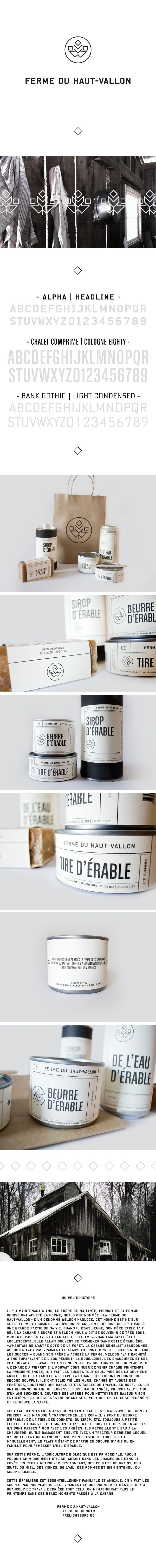 Ferme du Haut-Vallon by Eliane Cadieux, via Behance Time for a bath #identity #packaging #branding PD