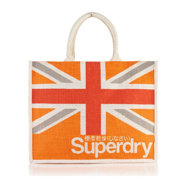 Superdry Super Life Large Tote Bag (€7,82) ❤ liked on Polyvore featuring bags, handbags, tote bags, orange, reversible purse, tote handbags, orange handbags, reversible tote bag and orange tote bag