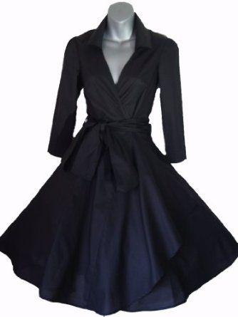 Robe de Soiree ,Noir,Vintage Rockabilly style,Retro Années 50, Jupe, Swing,Pin up ,Parfaite Pour Soiree Dansante, Taille 36-52: Amazon.fr: Vêtements et accessoires