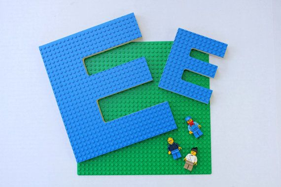 Perfect gift for your Lego enthusiast, big or small, cnc router cut using trademark Lego build plates (blue, grey and green) and premium Baltic
