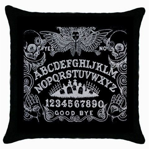 Ouija Board pillow case in black and white by StuffoftheDead, $19.00