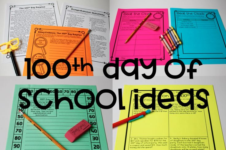 100th Day of School Ideas and Activities for Upper Grades! Great 100th day lessons for 3rd, 4th, or 5th grade. Covers reading, writing, and math skills.
