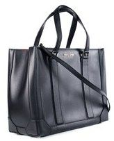 Roberto Cavalli Women's Black Leather Satchel Bag.