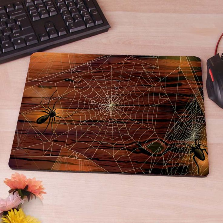 Spiders on the Web Silicon Anti-slip Mouse Mats Computer Laptop Notbook Gaming Mouse Mat #jewelry, #women, #men, #hats, #watches
