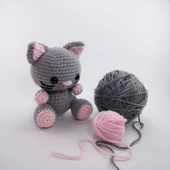 PATTERN: Kaylie the Kitten - Crochet cat pattern - amigurumi cat ...