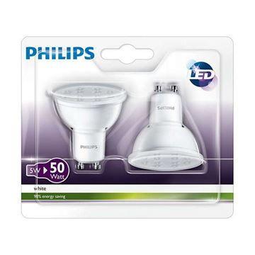 Bec LED spot Philips 5W GU10 350lm lumina calda http://www.etbm.ro/becuri-led