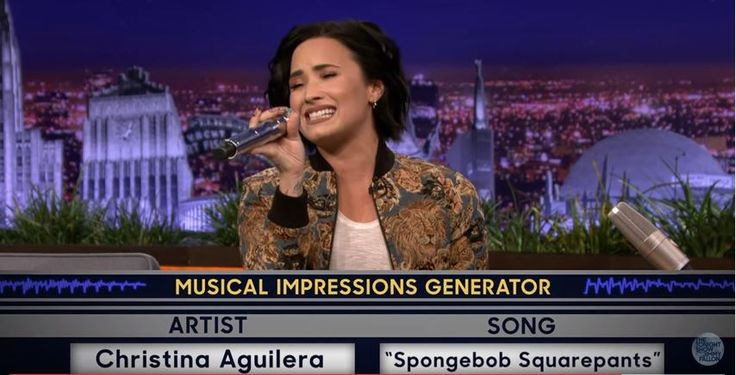 Na Maroon 5 frontman Adam Levine en Ariana Grande is het nu de beurt aan Demi Lovato voor een rondje The Wheel of Musical Impressions.