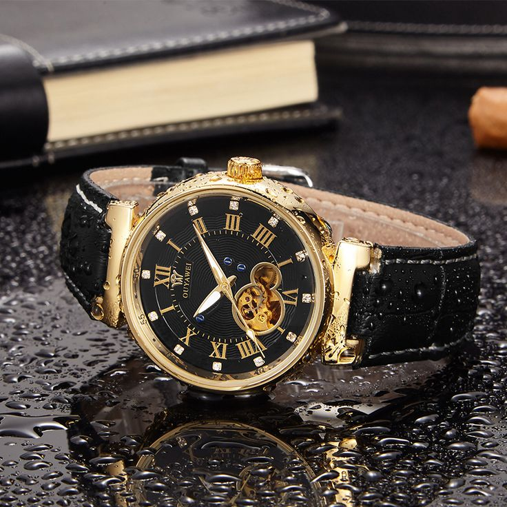 Mechanical Men's Watch Skeleton wristwatch Man watches Leather Relogio Masculino Luxury Fashion Casual Wrist Watch For Men Gift-in Mechanical Watches from Watches on Aliexpress.com | Alibaba Group