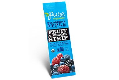 Wildberry Apple Fruit and Veggie Strip by Pure Organic