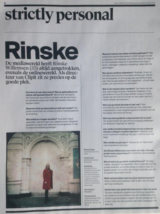 Interview Rinske Willemsen in Adformatie