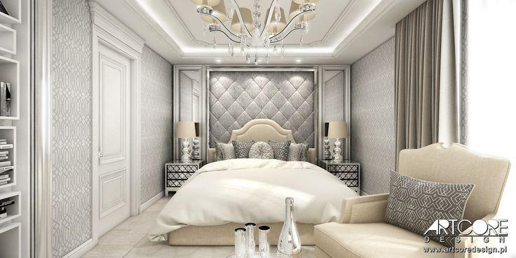 Luxury bedroom - classic residence interior design. Art Deco bedroom.
