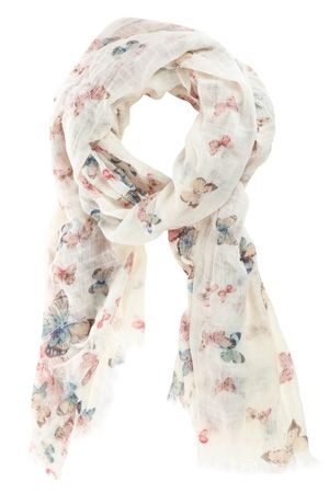 Oasis Scarves | Multi Tea Dance Butterfly Scatter Scarf | Womens Fashion Clothing | Oasis Stores UK - StyleSays