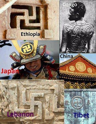 SWASTIKA: Ancient Indigenous Kosmic African symbol representing 360 degrees of Illuminated Solar Knowledge (not the creation of Hitler)