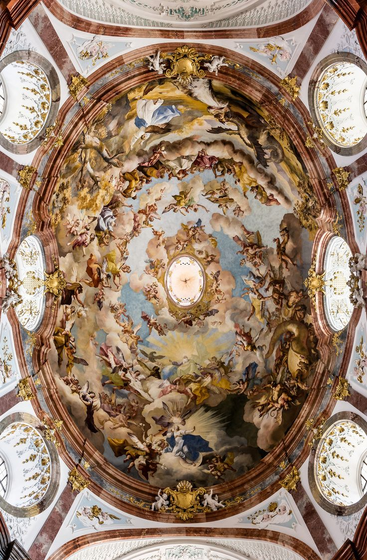 285 best baroque interiors and architecture images on pinterest fresco in the dome of altenburg abbey church lower austria by paul troger dailygadgetfo Gallery