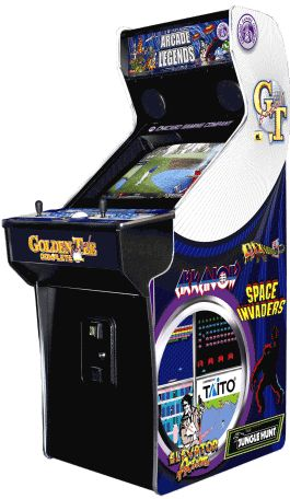 OUR # 1 SELLING VIDEO GAME FOR HOME OR OFFICE ! Arcade Legends 3 ™Upright Multi Game - The   latest fully legal, licensed and expandable Multi-Video   Arcade Game ! Arcade Legends 3 Video Games comes with over 130 Authentic Classic Video Games from  the 80's to now, in one great looking cabinet, along with  29 courses from Golden Tee Golf ™ Fore Complete, and is made specifically for home/office use!