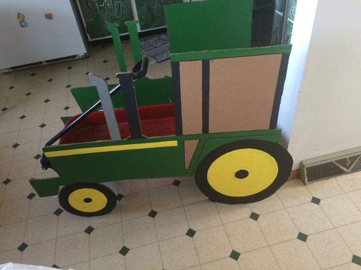 Tractor wagon Halloween costume boy costume John Deere farmer
