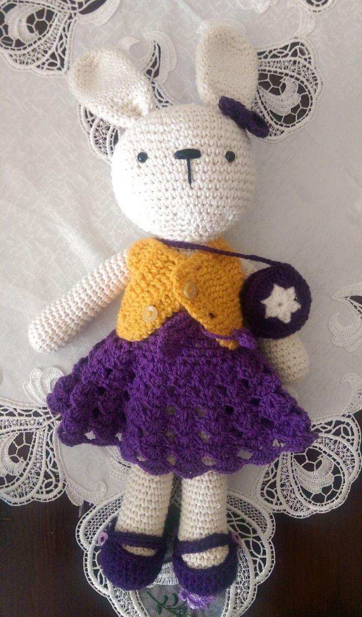 crochet handmade rabbit stuffed toy gift amigurumi by SmallworldByAnna on Etsy