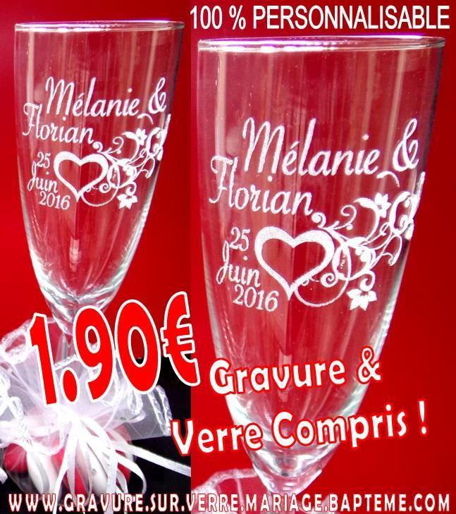 Acier 12th Anniversaire de mariage carte personnalisé fait main champagne verres