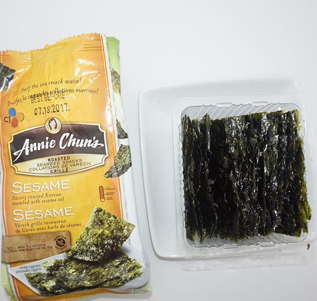 I'm SO addicted to eating seaweed . There are lots of brands I like but this one clearly advertises being gluten free. Annie Chun's roasted seaweed snacks. Perfect if you like salty snacks but don't want too many calories. Annie's also has multiple flavours. Follow my account as I post all of the gluten free snacks I find