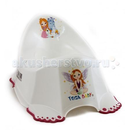 """Tega Baby антискользящий Маленькая принцесса  — 510р. ----------  Горшочек имеет удобную анатомическую форму с поддерживающей спинкой и с защитой от брызг. Резиновые накладки на """"лапах"""" позволяют надёжно фиксировать горшок на полу, не скользить.  Удобный горшок, подойдет ребенку любой комплекции.  антискользящий горшок для детей от 1 до 4 лет оригинальный дизайн украшен красивыми рисунками поможет в игровой форме приучить ребенка к горшку устойчивый горшок легкий, ребенок сам сможет его…"""