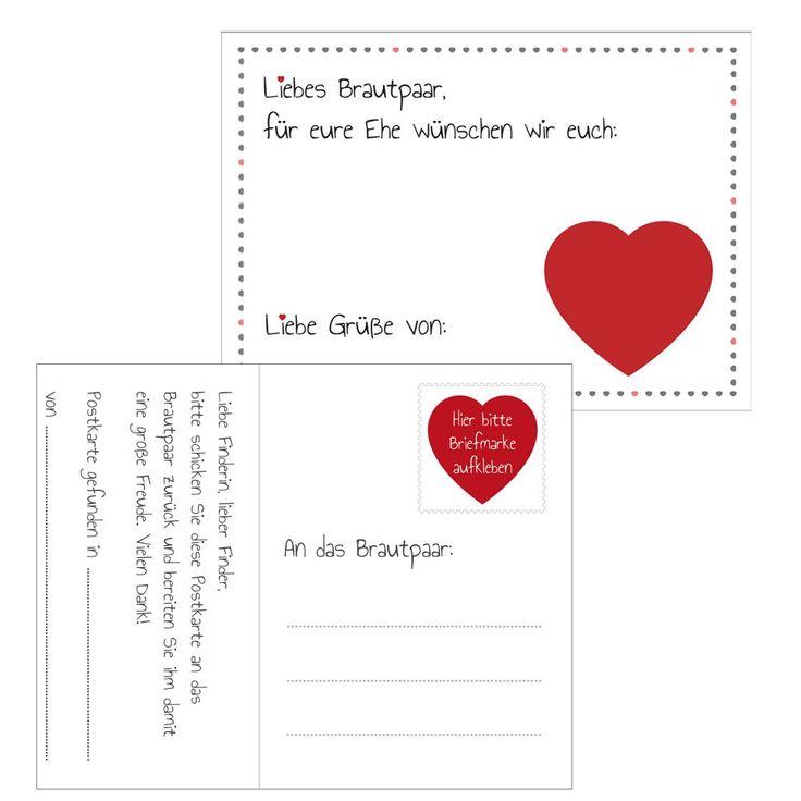 Hübsche Ballonflugkarten mit Herz-Motiv - Hochzeit