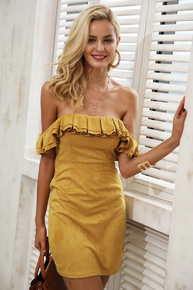 fcd1cbc698ddc8 Hannah Ruffled Off Shoulder Dress #minidress #offshoulder #soofabfashion # outfit