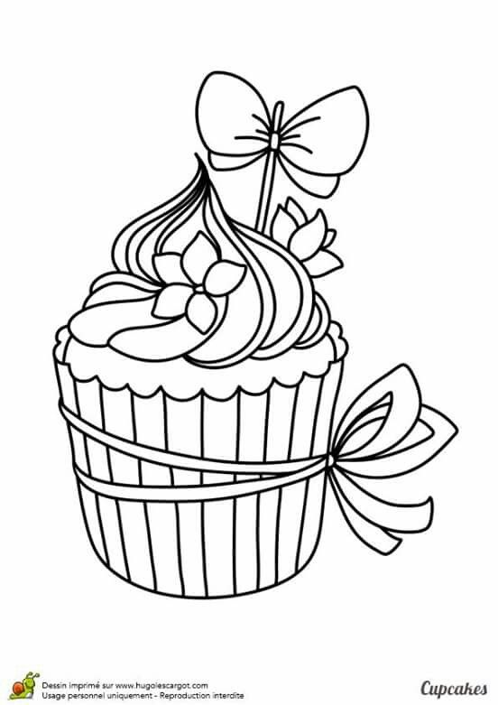 free printable cupcake coloring pages for kids see more colorir - Blank Birthday Cake Coloring Pages