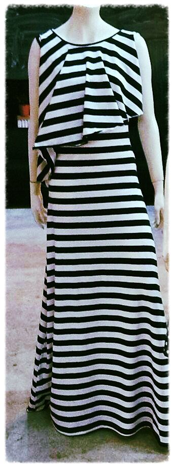 New maxi dress with stripes! www.queen-a.net