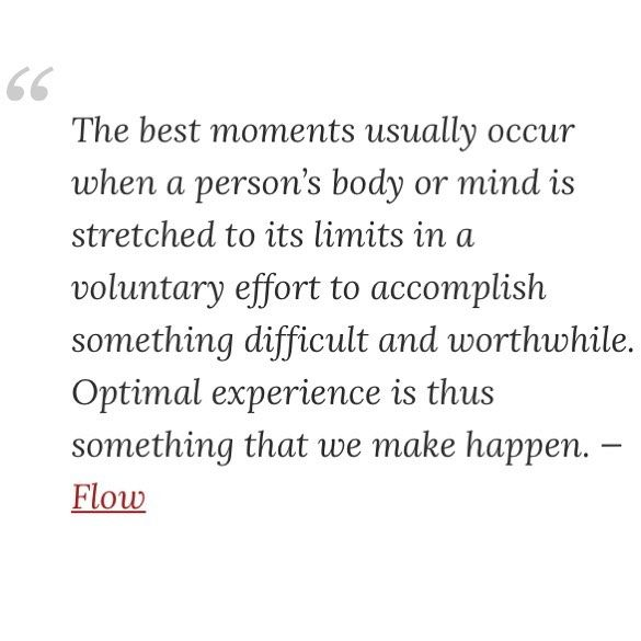 Quote from Mihaly Csikszentmihalyi in his book Flow. #psychology #flow