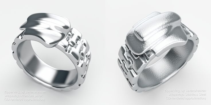 3D-printed jewelry design, available for sharp prices in the Sevensheaven 3D print store (click on the image).