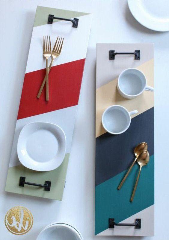 DIY : des plateaux originaux avec des planches